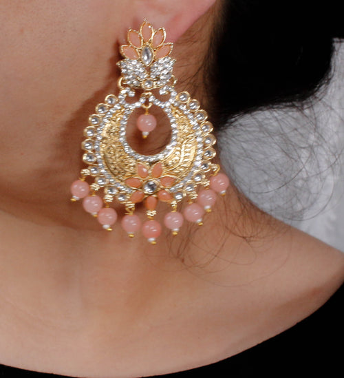 Ava Earrings -  Peach