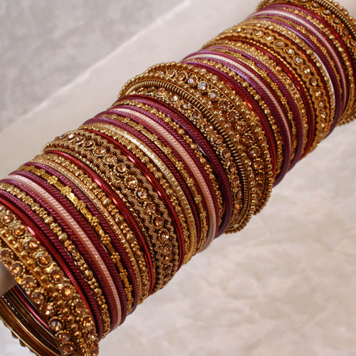 Plum Bangle Set