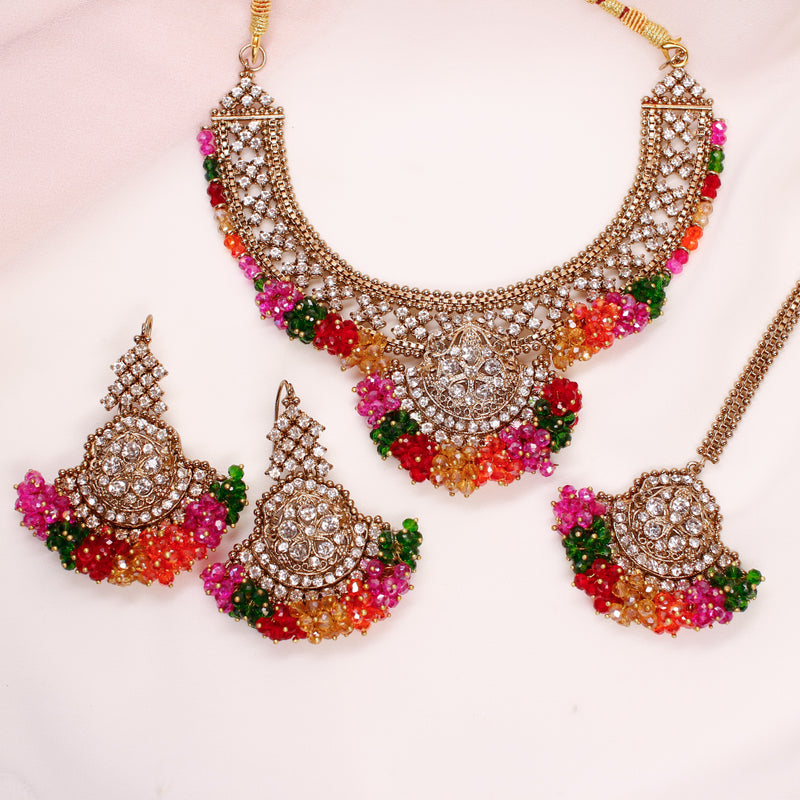 Ikra Necklace Set - Multicolour