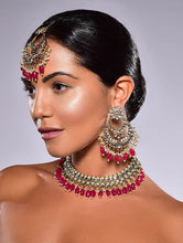 Load image into Gallery viewer, Shimon Faux Kundan set - Light Pink