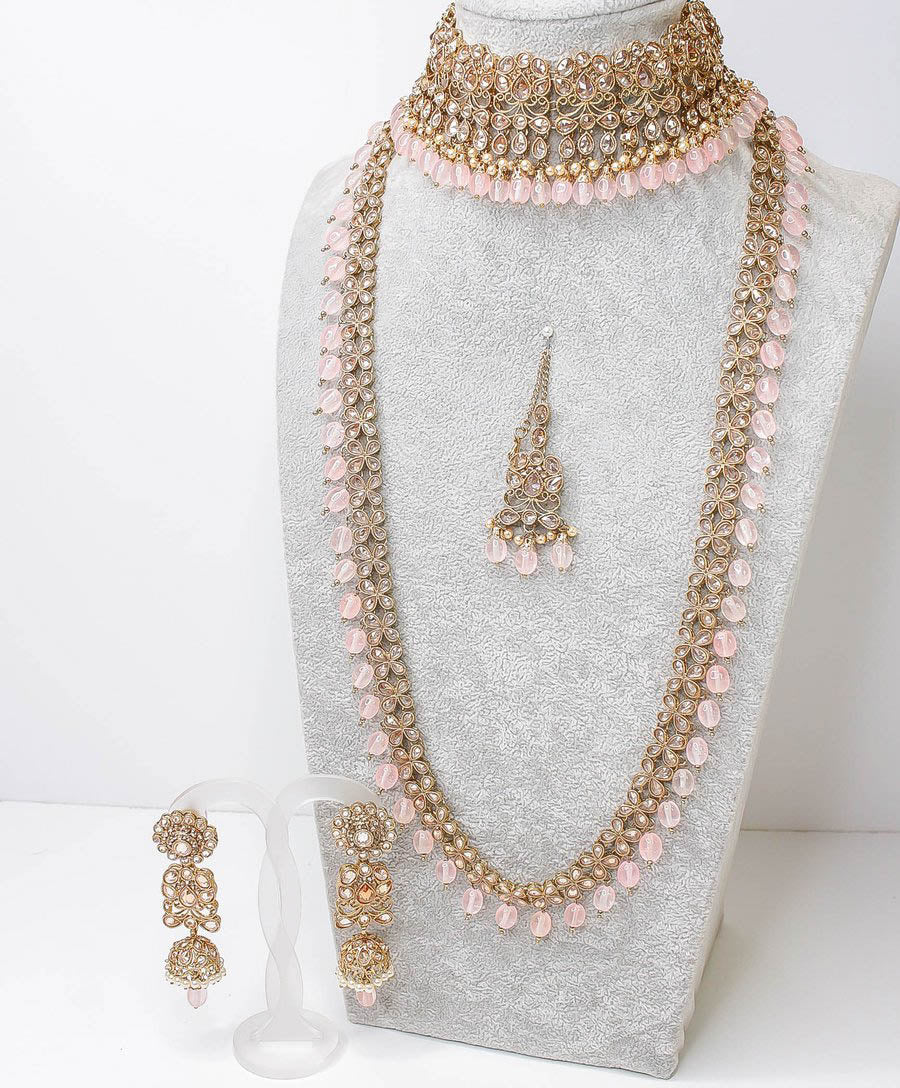 Usha Semi Bridal Set - Light Pink