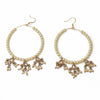 Tasnim Hoop Earrings  - Cream Pearl