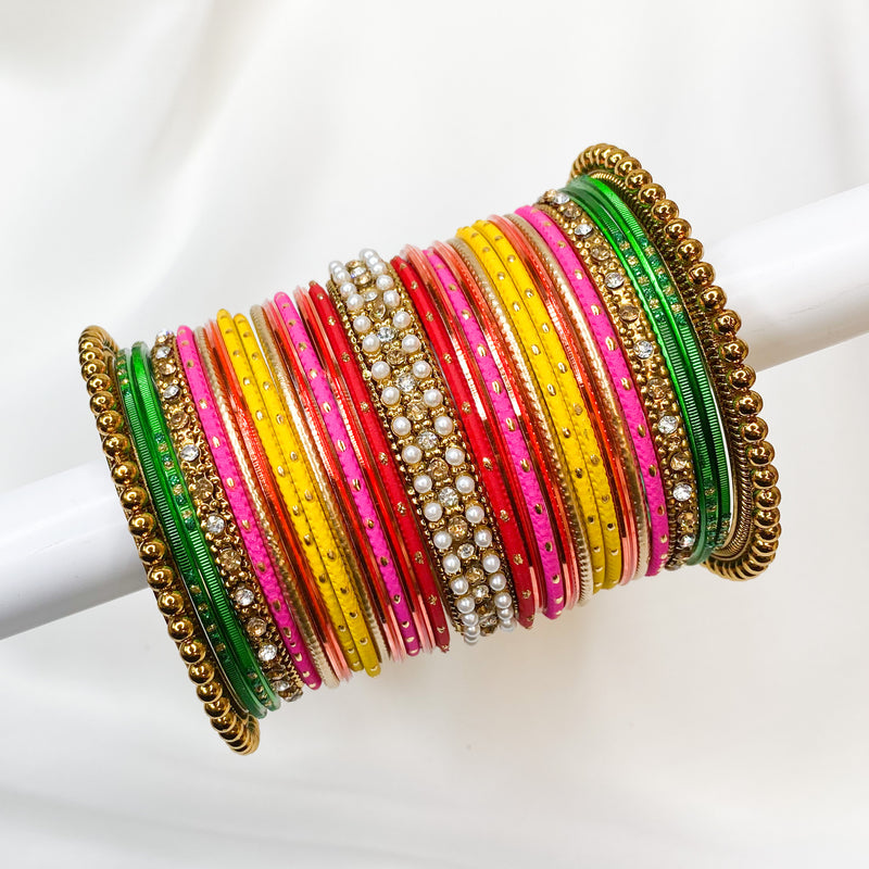 Multicolour Bangle stack