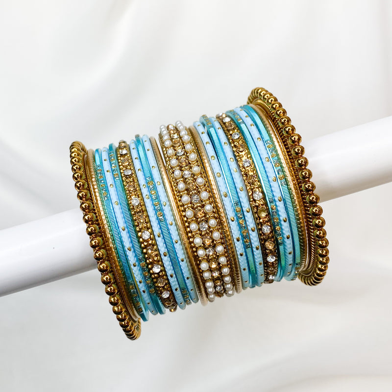 Light Blue Bangle stack