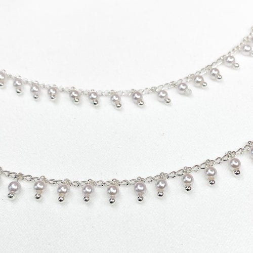 Manal Silver Earring Chains
