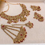 Alicia Necklace set - Maroon
