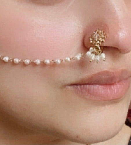 Small Crystal nose ring - Slide on