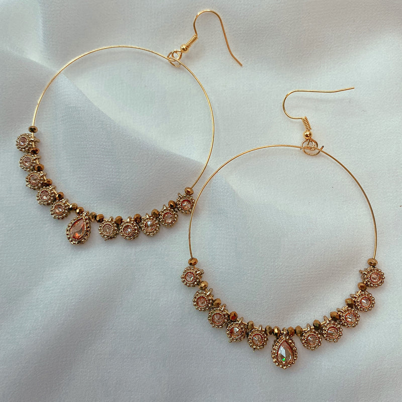 Summertime Hoop Earrings  - Antique