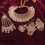 Ziba Bridal Necklace set - Rose Gold