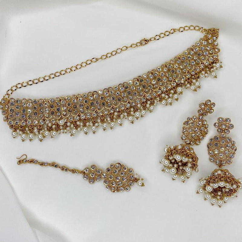 Harmeet Choker Set - White