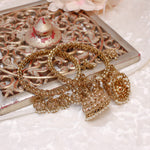 Savanna Antique Gold Jhumka Bangles