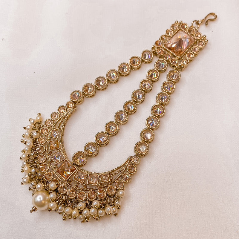 Priya Small Antique Gold Jhumar