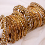 Bridal Bangle stack - Golden