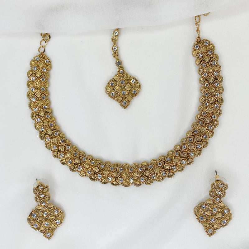 Kayali Necklace set - Clear Crystal