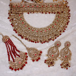 Deandra Bridal Double necklace set - Maroon