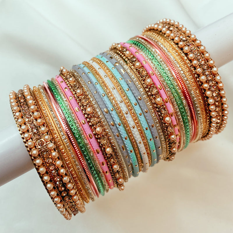 Pastel shades Bangle stack