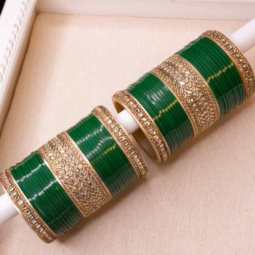 Green Chura set - 2.8