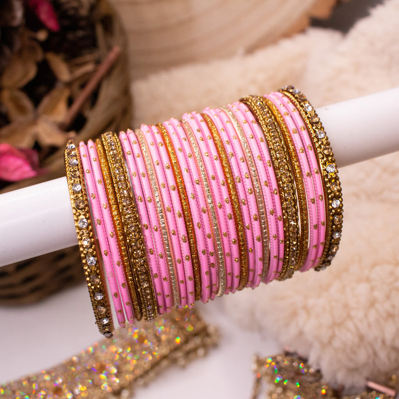 Light Pink Bangle stack