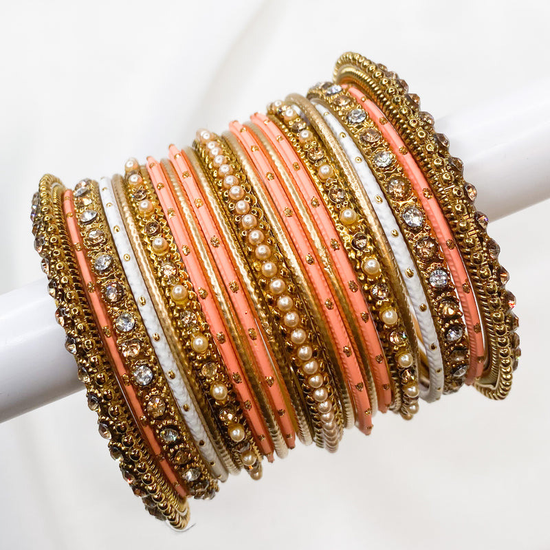 Light Coral Bangle stack