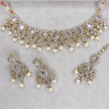 Load image into Gallery viewer, Parthvi Choker Set - Clear Crystal
