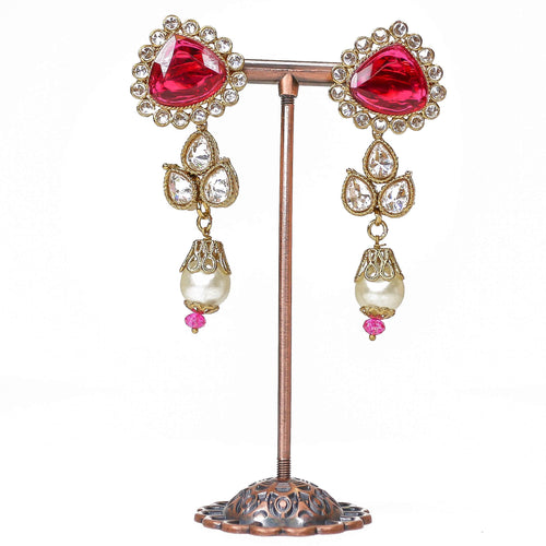 Small  Amenur Earrings - Pink