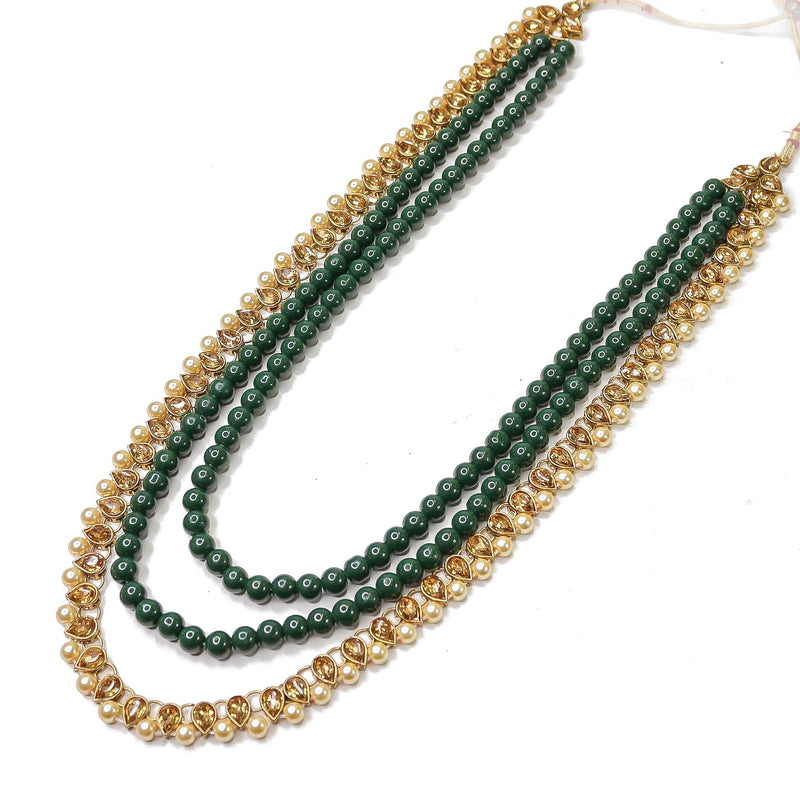 Fari Long Necklace - Green