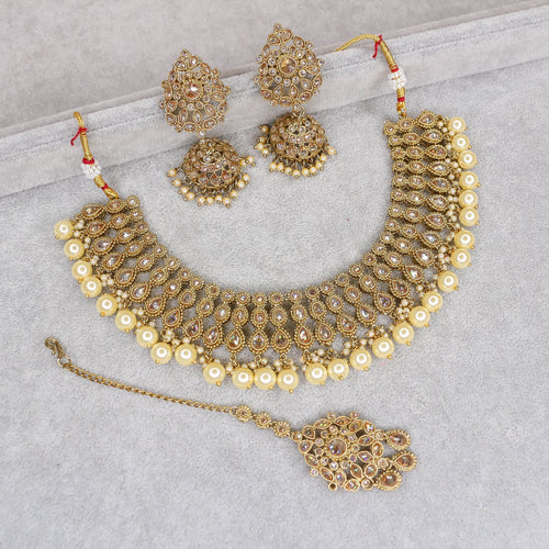 Rekha Small Antique Necklace Set