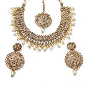 Rana Necklace Set - Pearl