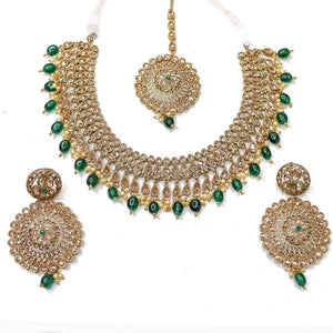 Rana Necklace Set - Green