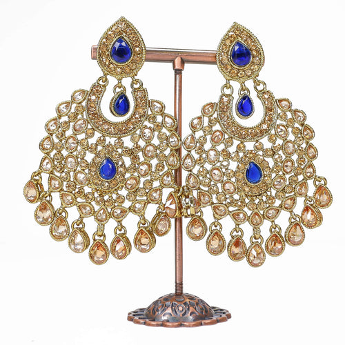 Mahnoor Earrings - Navy