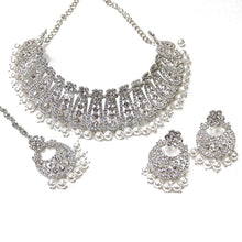 Load image into Gallery viewer, Ira Choker set - Silver