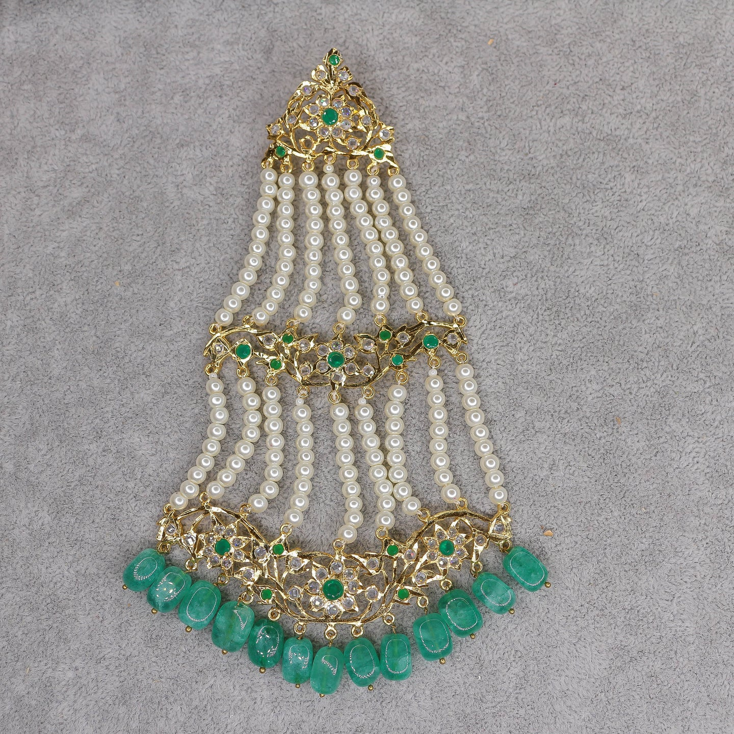 Zareen Jhumar - Emerald Green