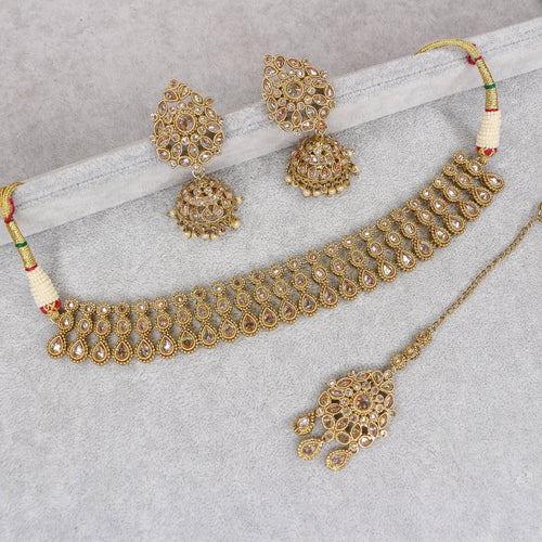 Rekha Small Antique Choker Set