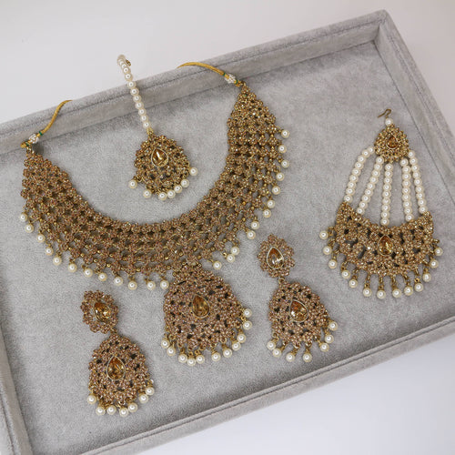 Suman Necklace Set - Pearl