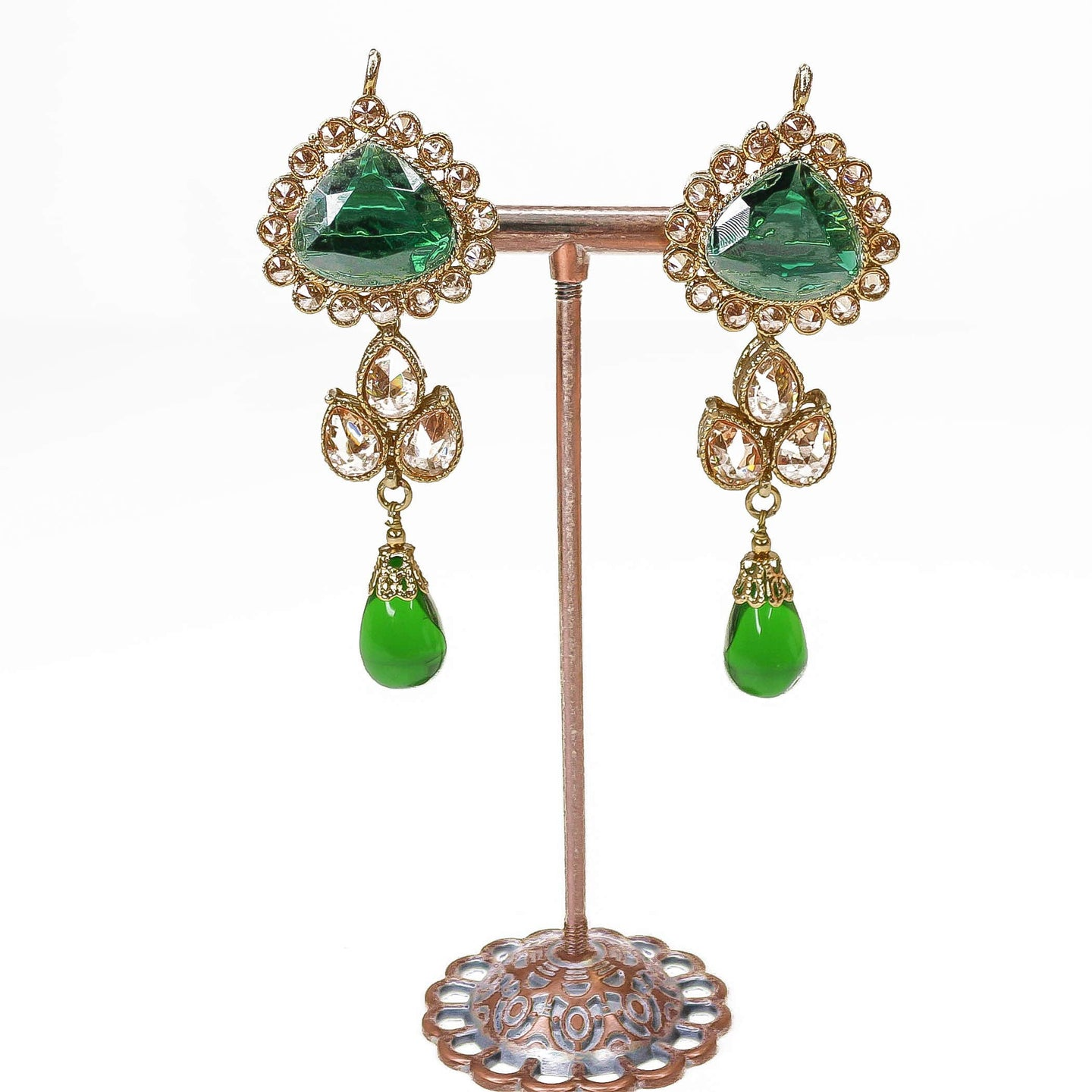 Small Amenur Earrings - Green