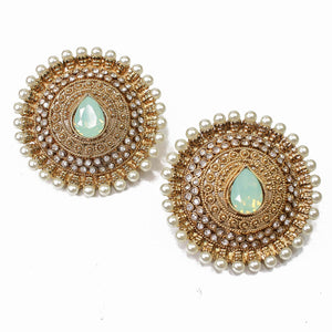 Labiba Oversized Earring Tops - Opal Green