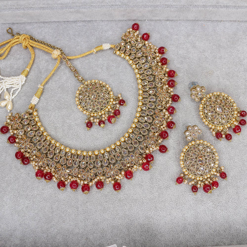 Shouli Necklace Set - Maroon