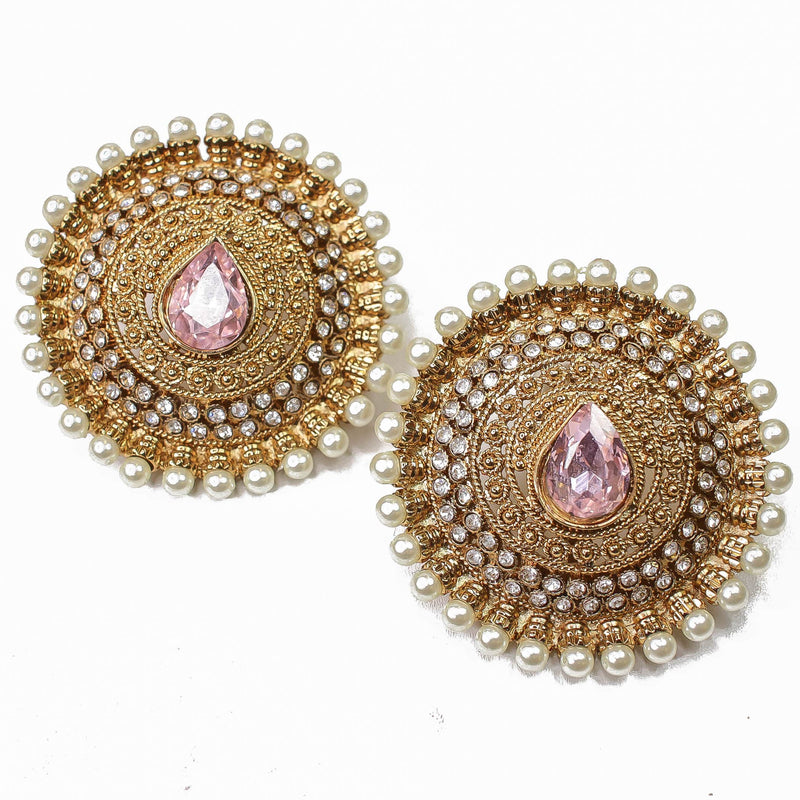 Labiba Oversized Earring Tops - Light Rose