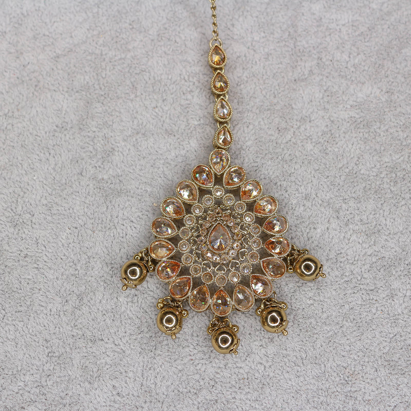 Antique Gold Large Tikka