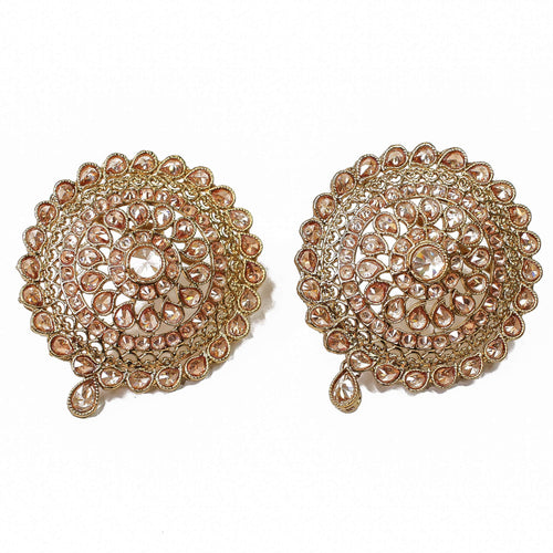 Pavan Round Oversized Earring Tops
