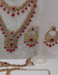 Shabnam Bridal Set - Maroon