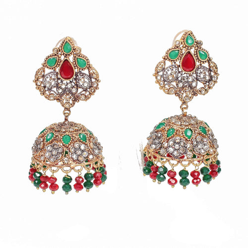 Gold Plate Jhumka Earrings