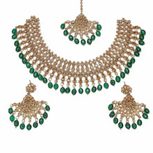Load image into Gallery viewer, Laiba Necklace Set - Green