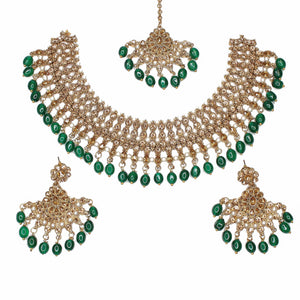 Laiba Necklace Set - Green