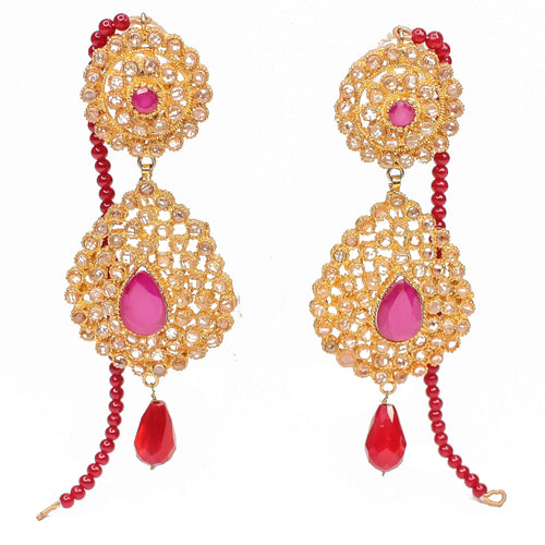 Wajiha Luxurious Gold Plated Earrings