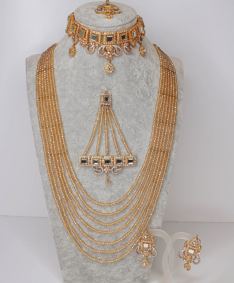 Mehreen Sheesha Stone Bridal set