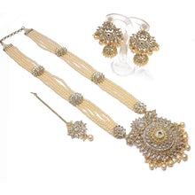 Load image into Gallery viewer, Surya Long Statement Pendant Set - Pearl