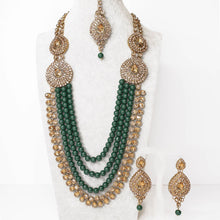 Load image into Gallery viewer, Mahima Necklace set - Green