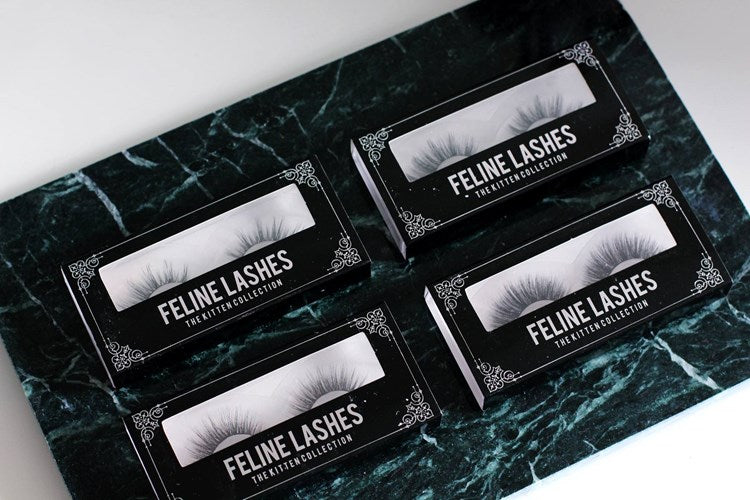 Vegan silk lashes feline lashes