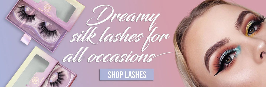 3d silk lashes clear band vegan cruelty free